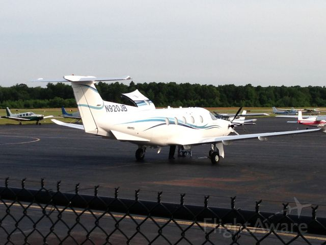 Pilatus PC-12 (N920JB) - This is Jimmy Buffett's Pilatus on the ramp at 1B9. Jimmy Buffett flew to Mansfield, Ma for his concert at the Comcast Center. He also had a professional pilot in the right seat. June 2013