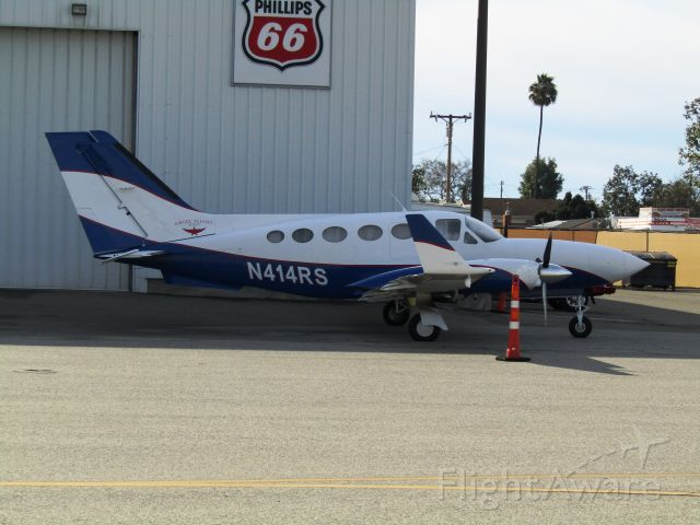 Cessna Chancellor (N414RS) - On the ramp