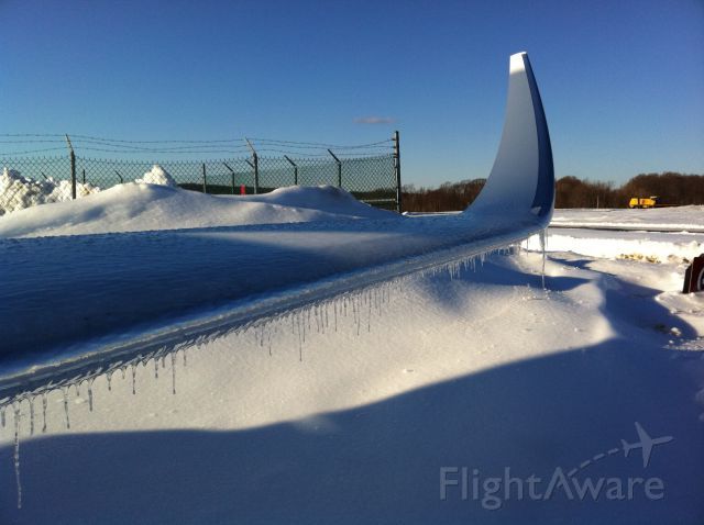 Cessna Citation X (FIV705) - Cold winter in NY.  This thankfully got melted prior to us departing....