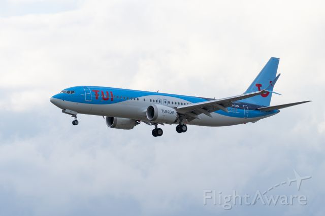 Boeing 737 MAX 7 (PH-TFO) - Tui B737-max 8 is doing a transition flight from EHEH to EHAM