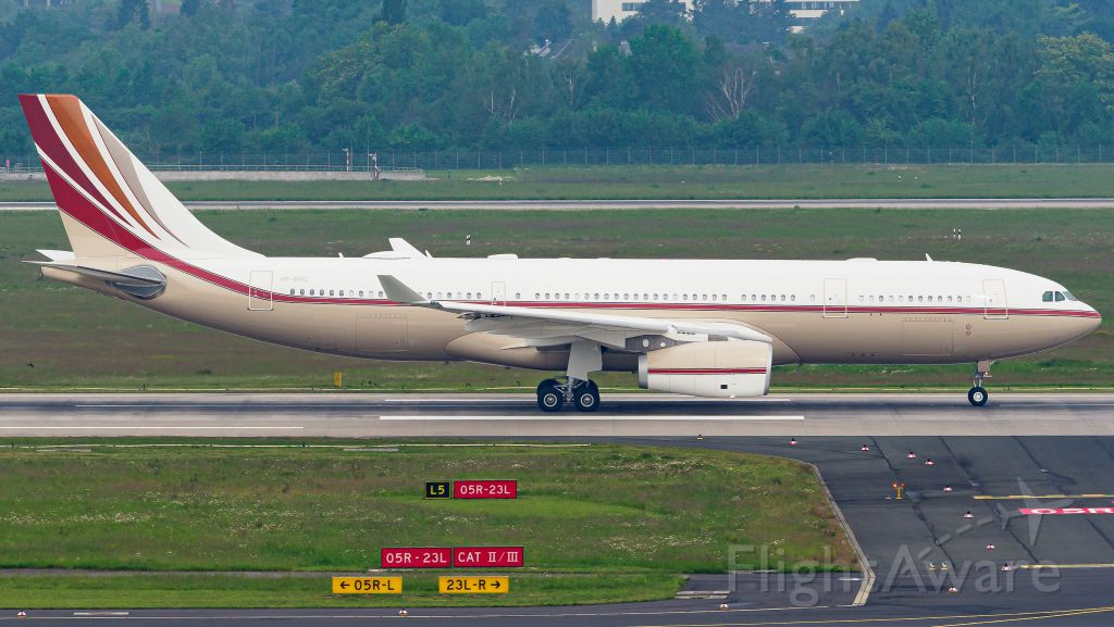 Airbus A330-200 (VP-BHD) - Big Business Jet from Saudi Basic Industries.