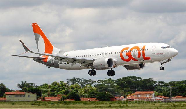 Boeing 737 MAX 8 (PR-XMA) - O primeiro pouso do Boeing 737-8 MAX prefixo PR-XMA no Aeroporto de Teresina - Senador Petrônio Portella 15/02/2019