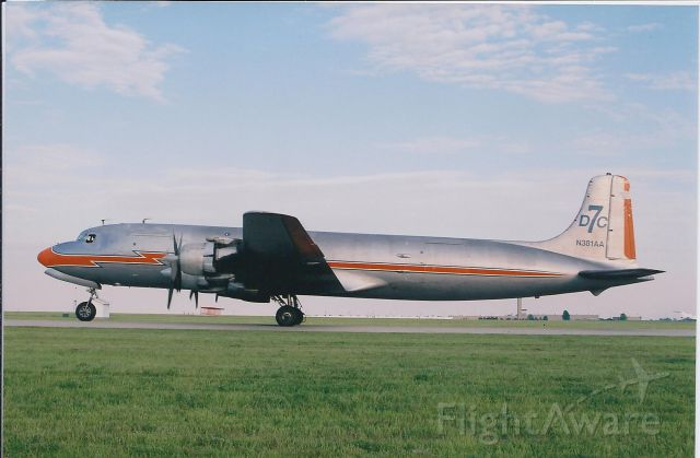 Douglas DC-7 (N381AA) - A classic airliner. Just beautiful. To bad she has had her wing's clipped recently. In my opinion, she makes a better airplane than a restaurant!