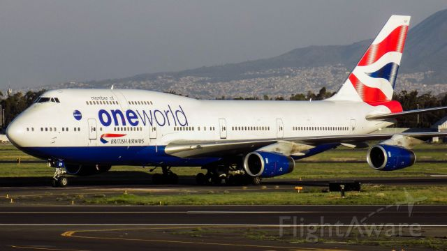 Boeing 747-400 (G-CIVP) - Memories from a fun spotting afternoon in Mexico City...