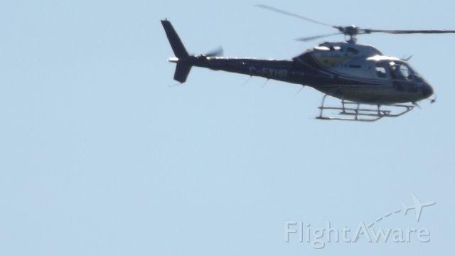 Eurocopter AS-350 AStar (C-FXHA) - C-FXHA en vol au dessu de Matane.Qc
