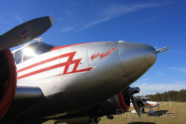 Beechcraft 18 (VH-BHS) - Beautifully restored example at the Cessnock Air Show 20 9 2018