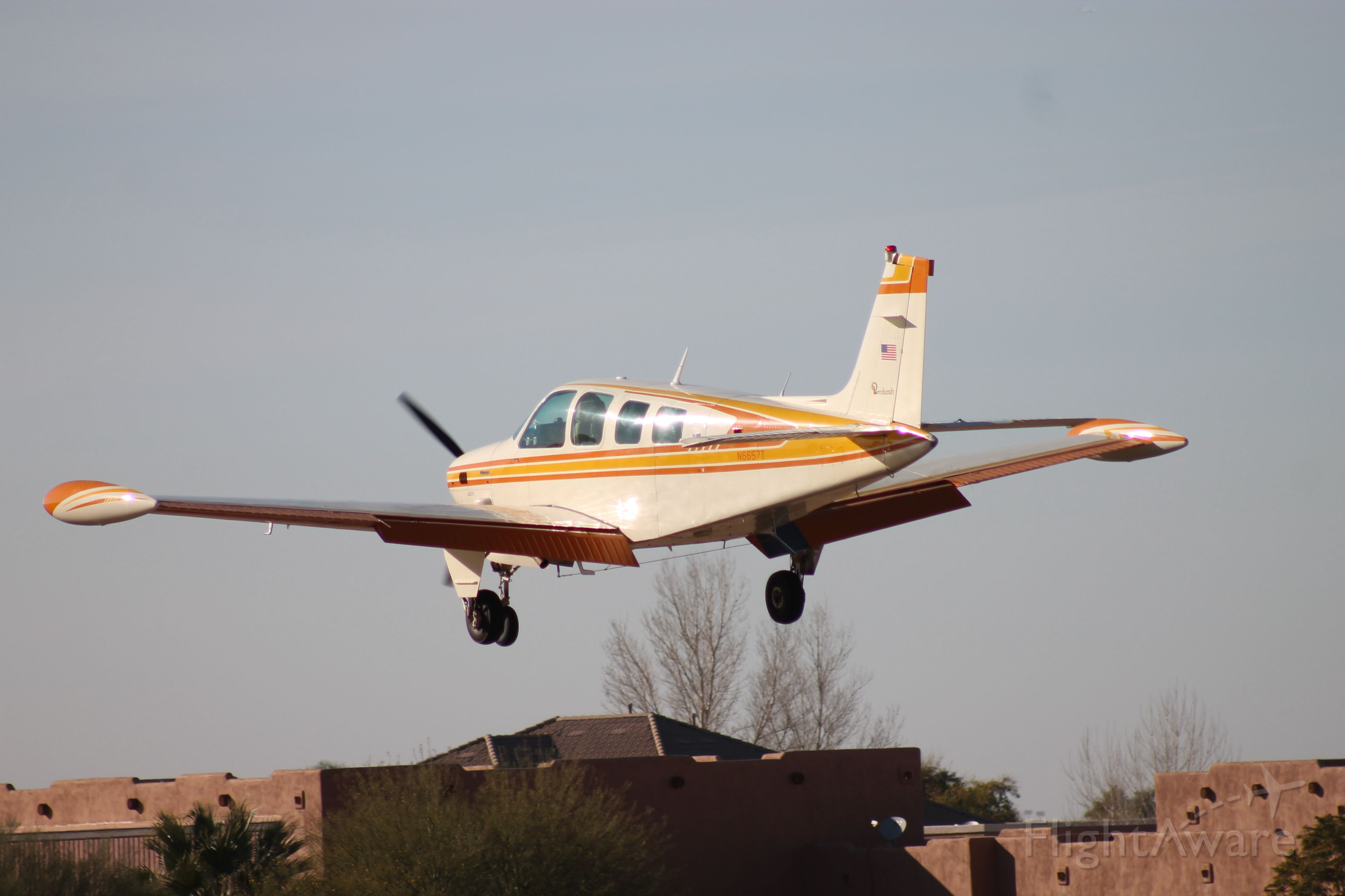 N6657T — - From our home on Pegasus Airpark