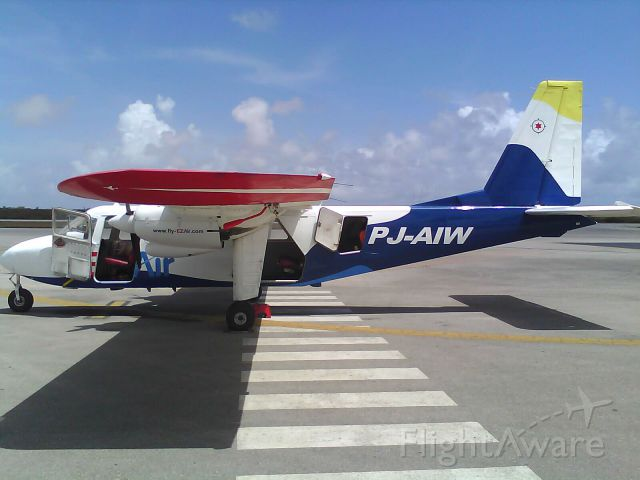 ROMAERO Islander (PJ-AIW) - Britten Norman Islander from EZ-Air
