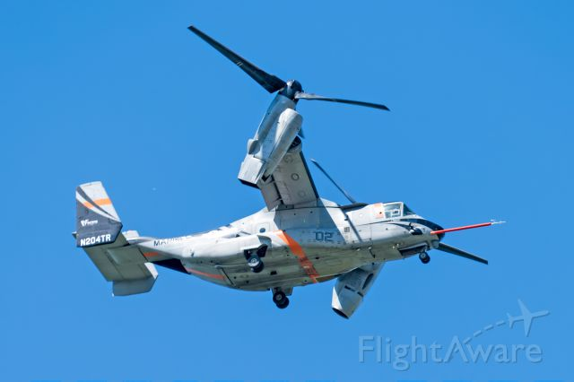 Bell V-22 Osprey (N204TR) - The left and right engine nacelles and exhaust are different
