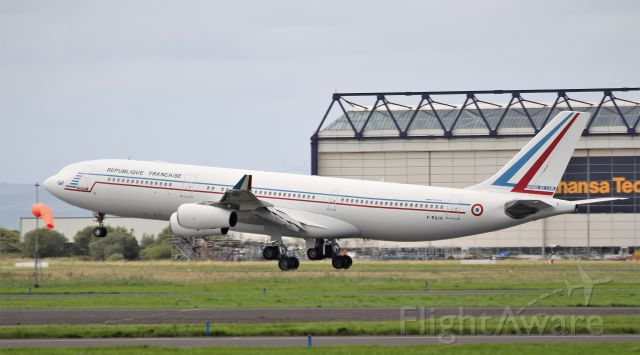 Airbus A340-200 (F-RAJA) - ctm1103 french air force a340-212 f-raja landing at shannon from the azores 5/9/19.