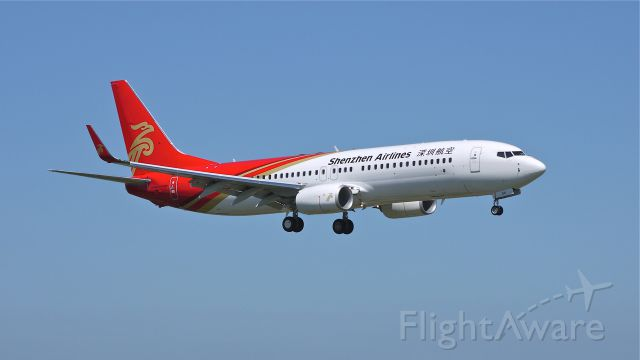 Boeing 737-800 (B-5671) - BOE722 (LN:4107) on final approach to runway 16R during a flight test on 7/11/12.