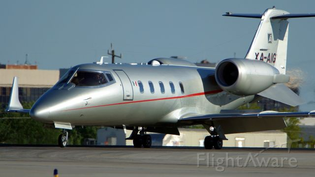 Learjet 60 (XA-AIG) - Exiting 4 after arrival.