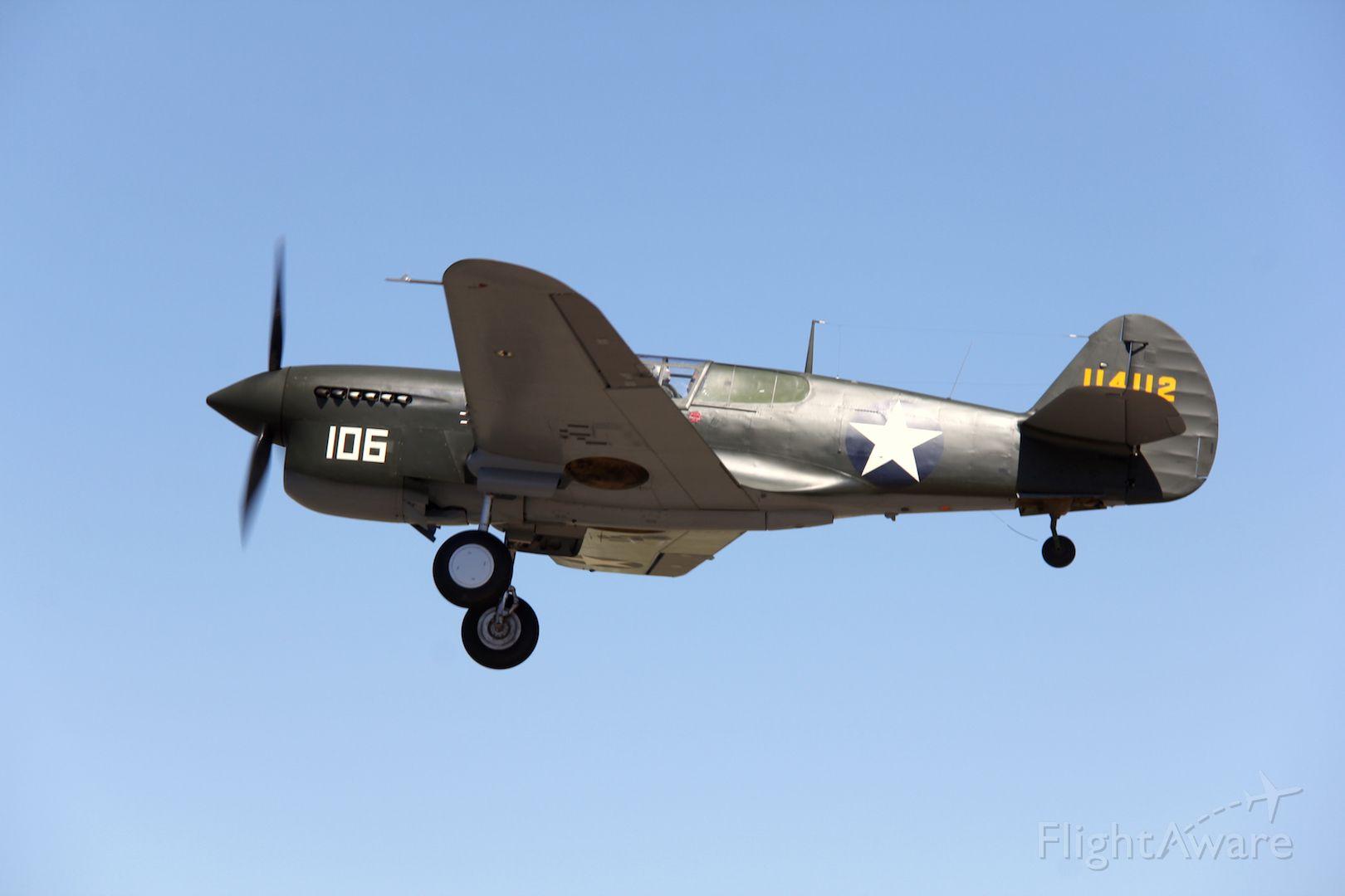 CURTISS Warhawk (VH-HWK) - Curtiss P-40F Kittyhawkbr /Manufactured in 1941, USAbr /Photo: 21.11.2015