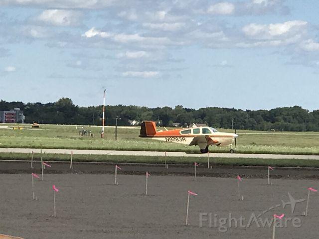Beechcraft 35 Bonanza (N9783R) - Beechcraft Bonanza Landing at Jackson