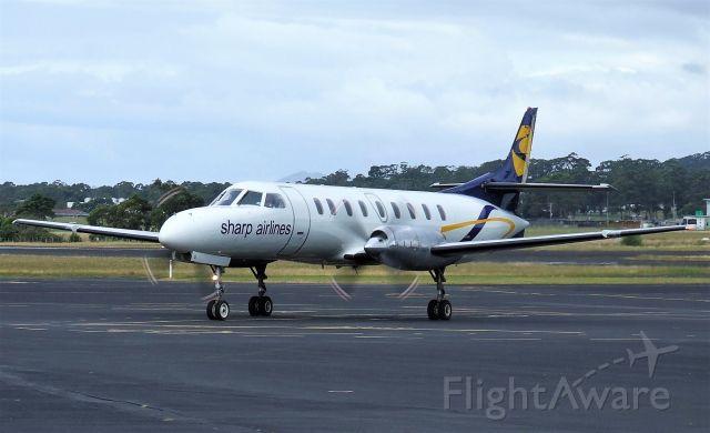 Fairchild Dornier SA-227DC Metro (VH-SRU) - Sharp Airlines Fairchild SA227-AC Metro III VH-SRU (AC-705B) at Wynyard Airport, Tasmania, Australia. 26 March 2021.