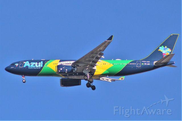 "Airbus A330-200 (PR-AIV) - ""Nacao Azul"" in Brazilian Flag Livery"