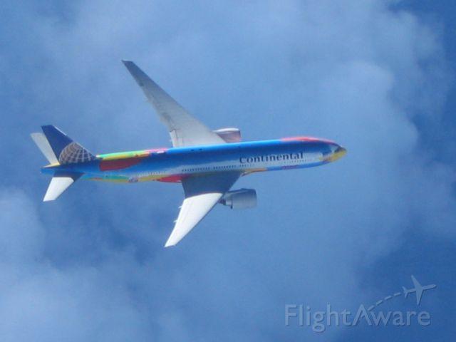 Boeing 777-200 — - Over Atlantic Ocean EGKK-KIAH, COA 35