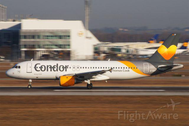 Airbus A320 (D-AICF) - Airbus A320-212, Condor, D-AICF, EDDM Airport München Franz Josef Strauss, 19. Febr. 2019