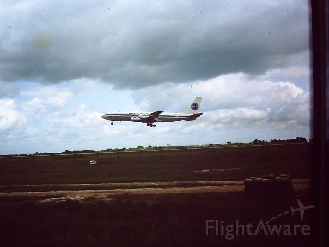 Boeing 707-100 — - TAN SON NHUT AIR BASE, SAIGON, VIETNAM 1966 PAN AM Boeing 707 just airborne.
