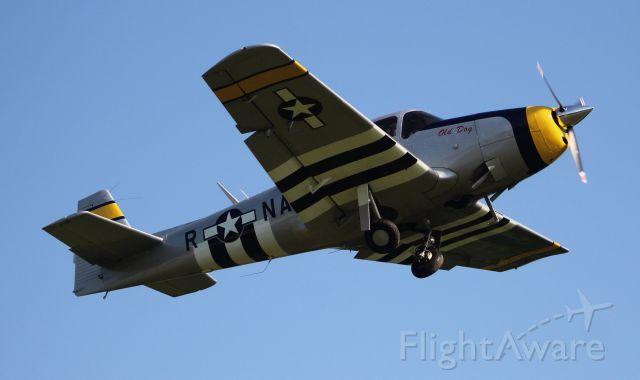 North American Navion (N4833K) - A 1949 model Ryan Navion departing Moontown Airport, Brownsboro, AL, during the EAA 190 Breakfast Fly-In - May 18, 2019.