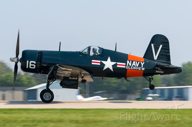 WAR Vought F4U Corsair (N194G) - The freshly restored Corsair of the Warbird Heritage Foundation departs runway 27 at Oshkosh. What a beauty!