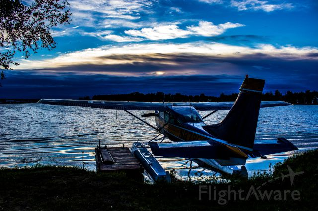 Cessna 206 Stationair — - On a walk around Lake Hood seaplane base across from Anchorage International.