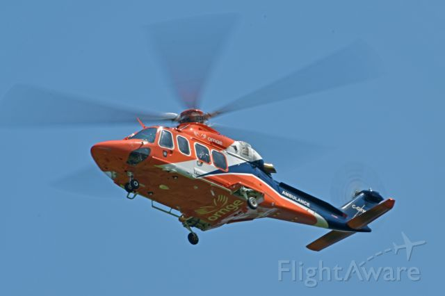 BELL-AGUSTA AB-139 (C-GYNK) - 2010 Agusta AW-139 (C-GYNK/41236) arriving from Peterborough Regional Health Centre Helipad (CNU3) to refuel on July 23, 2021