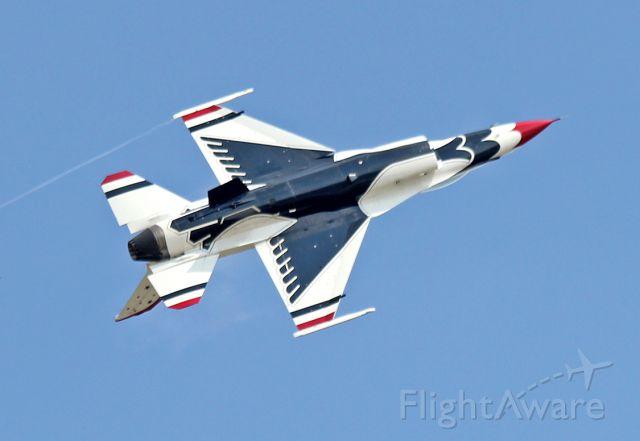 Lockheed F-16 Fighting Falcon (TB3) - June 2, 2012 - Thunderbird 3 performing at Airfest 2012 in Rockford, IL