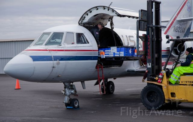 Dassault Falcon 20 (N822AA) - Hard working aircaft, hard working people.