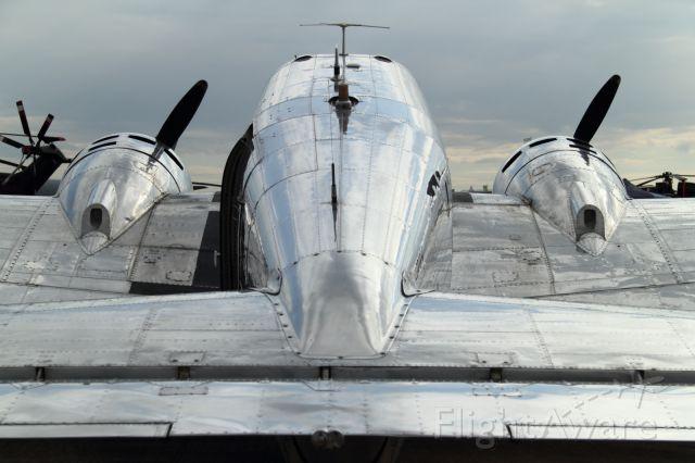 — — - Lockheed 12-A Electra Junior, on static display at RAF Fairford.