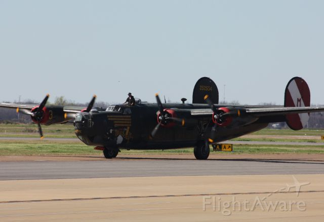 """Consolidated B-24 Liberator — - Collings Foundation B-24J """"Witchcraft"""" arriving for a Wings of Freedom Tour stop."""