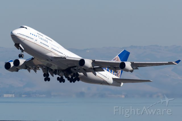 Boeing 747-400 (N118UA) - The last and final revenue departure of the United 747.