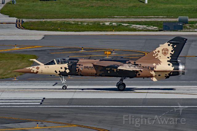 DASSAULT-BREGUET Mirage F1 (N576EM) - Departing to KSRQ after painting