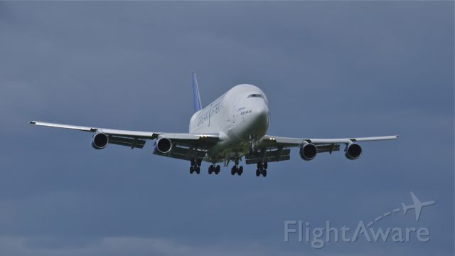 Boeing 747-400 (N747BC) - GTI4151 on final approach to runway 16R on 6/8/12. The flight was from RJGG/NGO to PANC to KPAE.