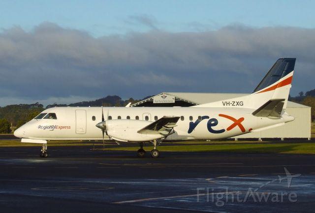 Saab 340 (VH-ZXG) - Regional Express Airlines Saab 340B VH-ZXG (340B-402), Wynyard NW Tasmania June 25, 2016.