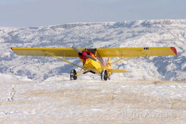 Piper L-21 Super Cub (N2666P) - Working in the Badlands,ND