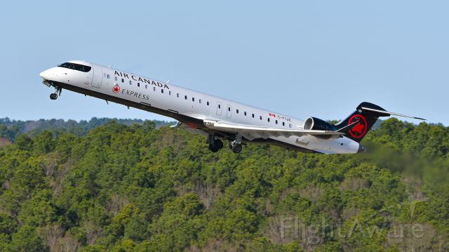 Canadair Regional Jet CRJ-900 (C-FIJZ) - Jazz Air (Air Canada Express) Bombardier CRJ-900 (C-FIJZ) departs KRDU Rwy 23R on 01/19/2020 at 2:40 pm.