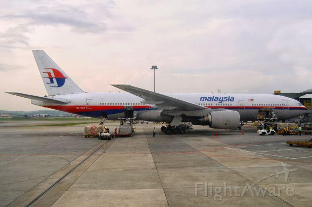 Boeing 777-200 (9M-MRD) - 31st July, 2013