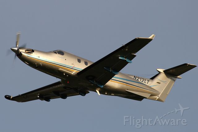Pilatus PC-12 (N212LT) - Stationed at Maastricht-Aachen Airport.