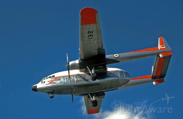 FAIRCHILD (1) Flying Boxcar (22132) - January 1965, Winnipeg, Manitoba. RCAF Fairchild C-119 Flying Boxcar, tail # 22132 on short final.