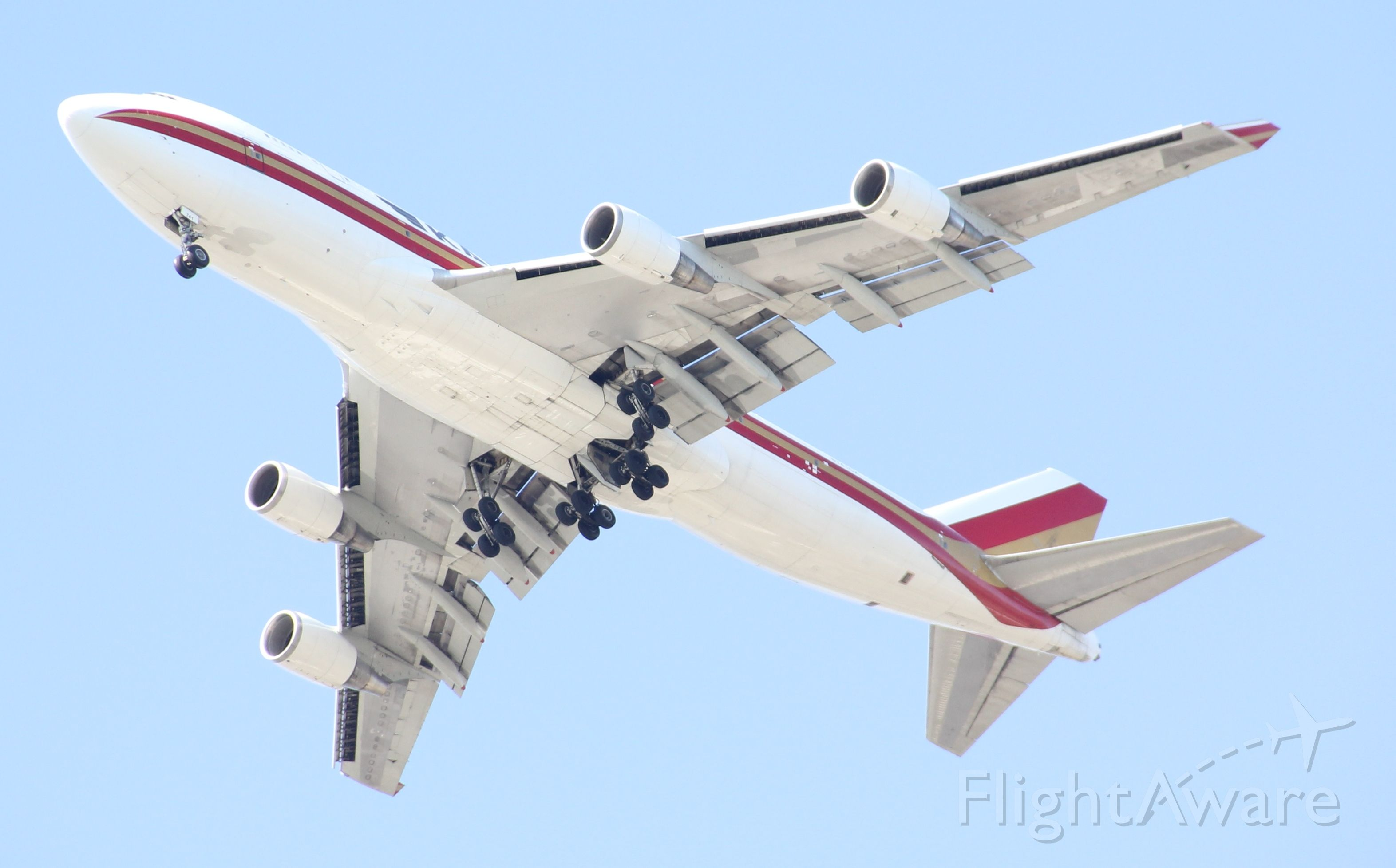 Boeing 747-400 (N741CK) - Finally got a 747 going over my house. Most of the big birds land on the eastern most runway which doesn't come over me. Taken on Nov 30 2019. Love living in the approach to Orlando International.