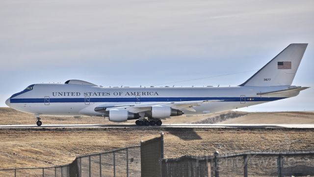 Boeing 747-200 (73-1677) - Boeing E-4B Advanced Airborne Command Post from the 1st Airborne Command and Control Squadron