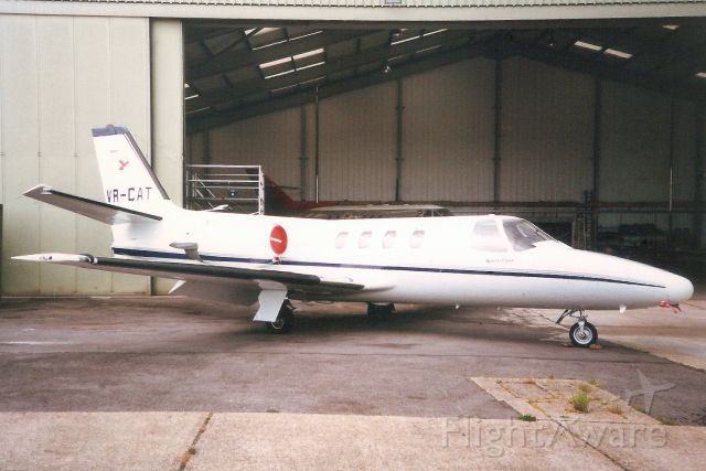 Cessna Citation 1SP (VR-CAT) - Seen here in Jul-95.<br /><br />Reregistered VP-CAT 1-Jul-97,<br />then EC-LPP in Jan-12.