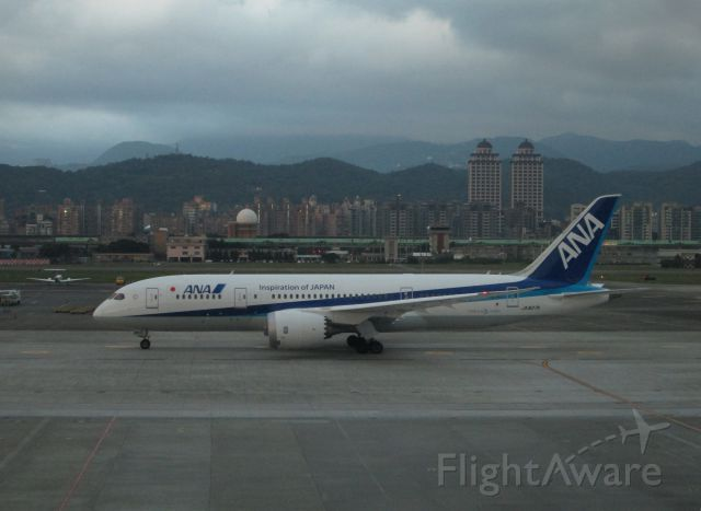 Boeing 787-8 (JA827A) - 2015.01.15 NH1188(TSA-HND) B787-8 JA827A 初飛來!