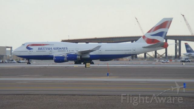 Boeing 747-400 — - This BA 744 has just landed here after a 11hr flight from Heathrow EGLL.