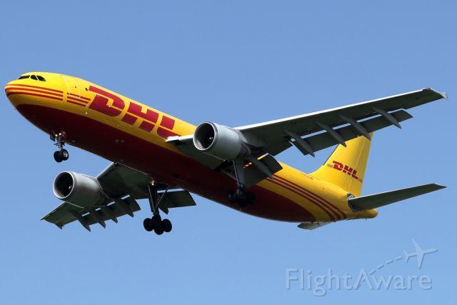 Airbus A300F4-600 (D-AEAE) - 17/04/2021:  cargo flight from Leipzig (LEJ) on final to runway 12.