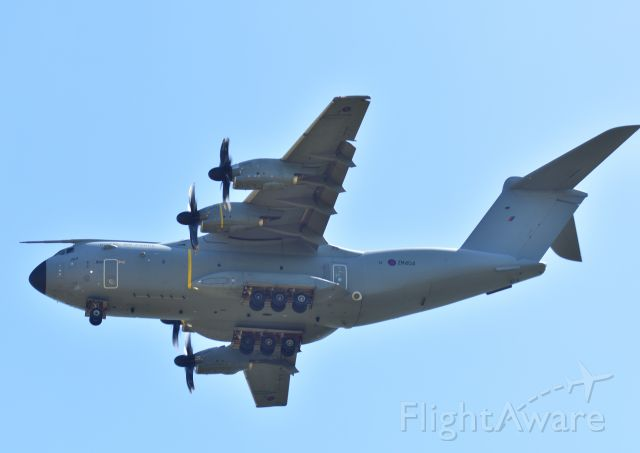 AIRBUS A-400M Atlas (MBB404) - IN A LAYBY AT THE END OF THE RUNWAY.