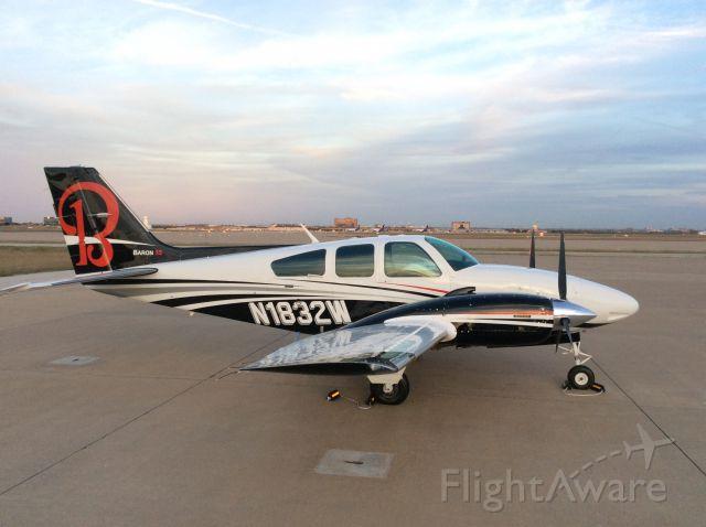 Beechcraft 55 Baron (N1832W) - N1832W sitting at DFW, Dallas, TX 12/2015.