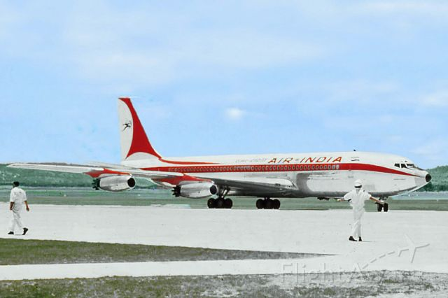 Boeing 707-300 — - Boeing 707-420 Air India Perth International YPPH  early 1960s.