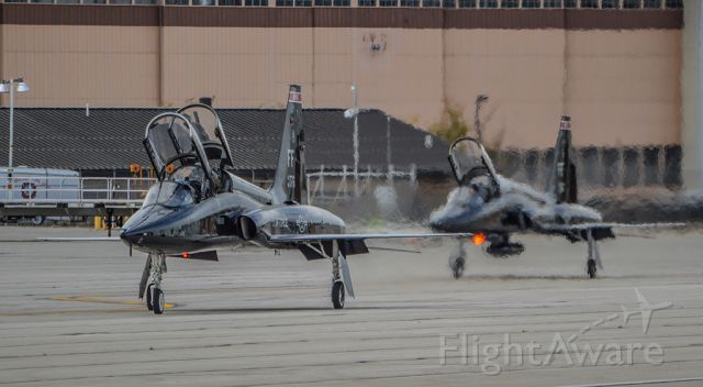 Northrop T-38 Talon — - Two T-38s taxiing out at LCK after a 6 day stay to avoid Hurricane Matthew